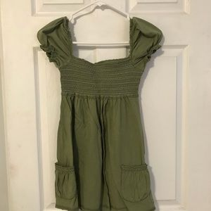 Abercrombie army green top